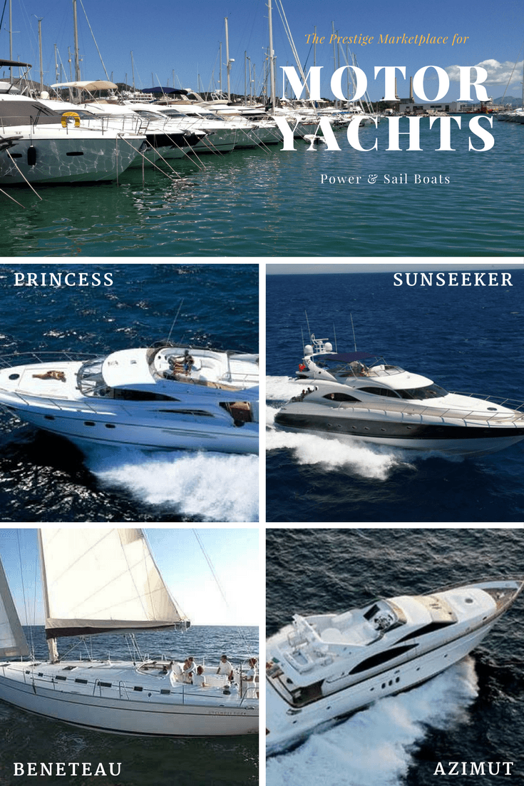 Luxury Motor Yachts for sale, Sunseeker used boats and Beneteau motor sail. Masthead Sloops & Ketch boats.