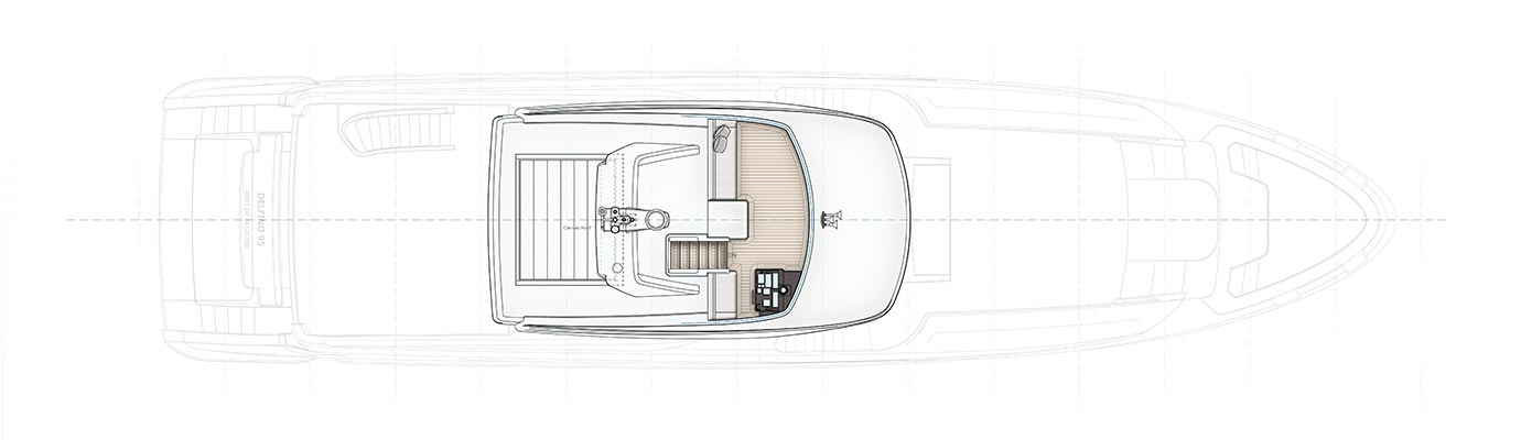 Birdseye view of Benetti Delfino 95