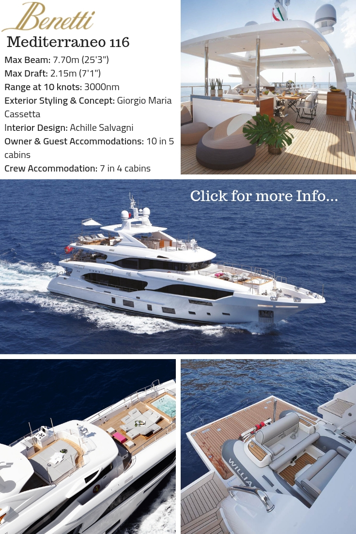 Benetti Yachts UK shows the Mediterraneo 116