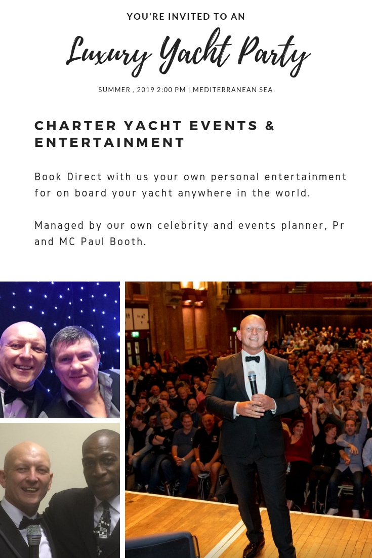 Superyacht Charter events planner Paul Booth - Book your entertainment for on board your Sunseeker.