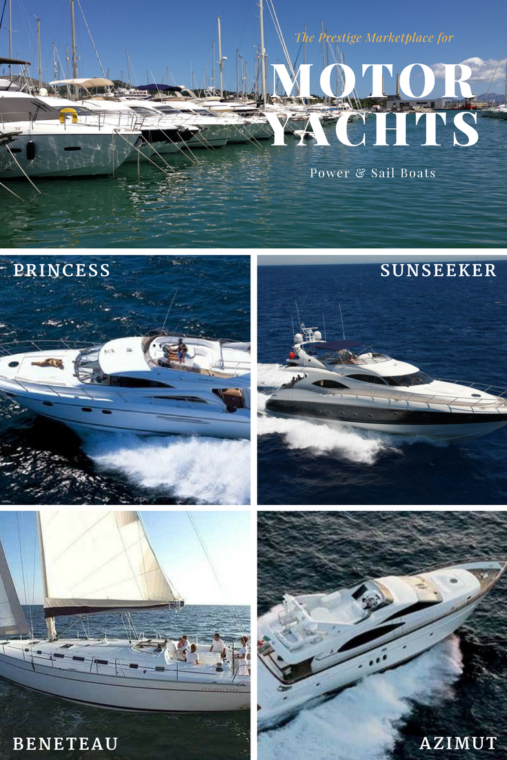 Motor yachts for sale in Lisbon area and Albuferia on the Algarve.