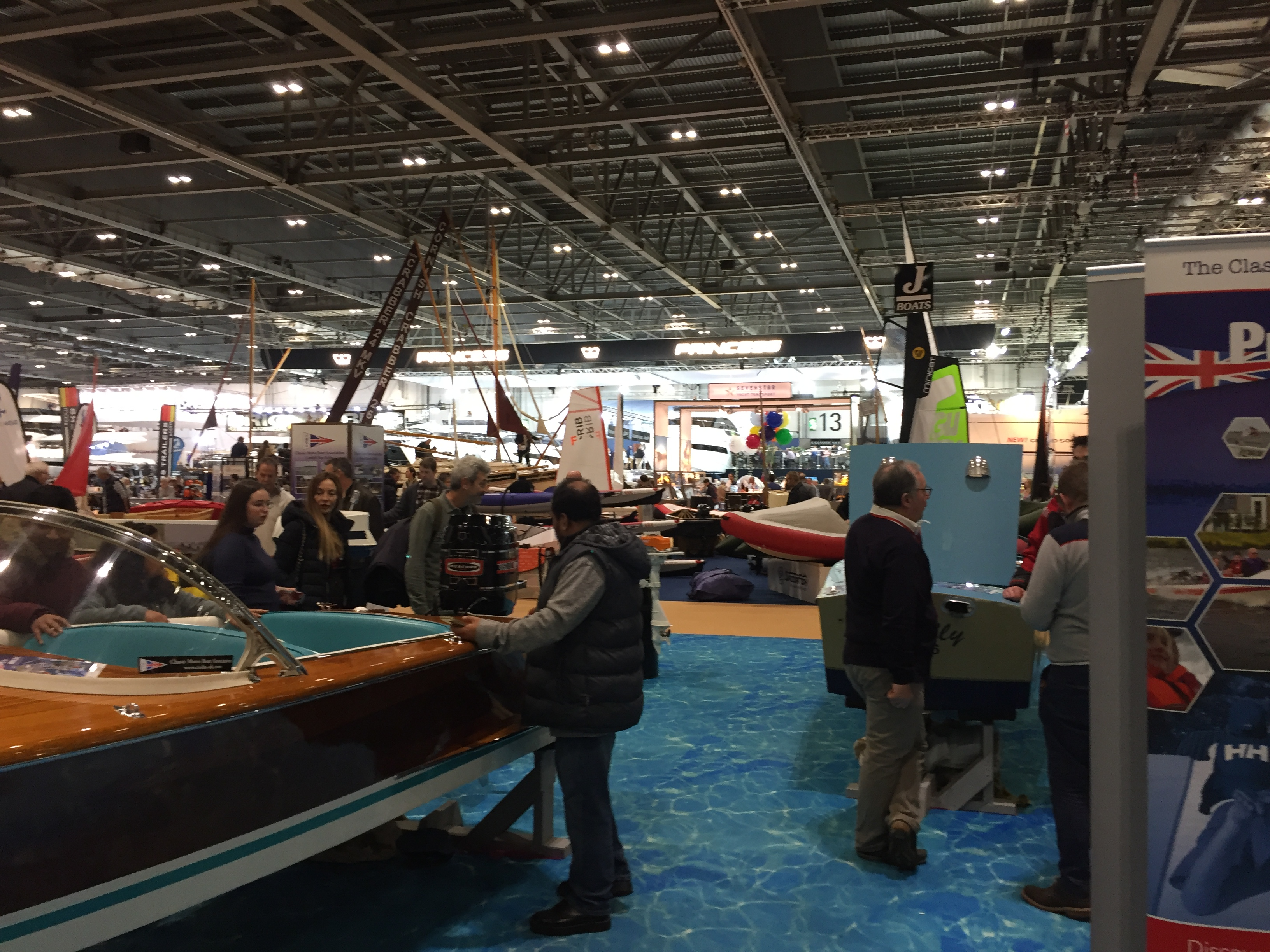 Luxury motor boats at the show in London