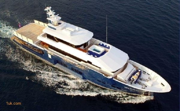 A sky view of the Cklass Nautique yacht