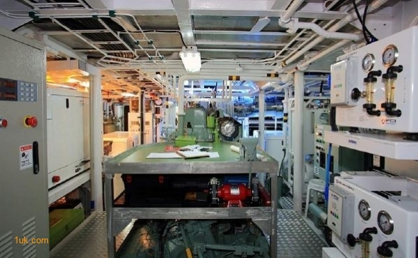 A view of the engine room