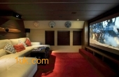 A luxury cinema room for entertainment