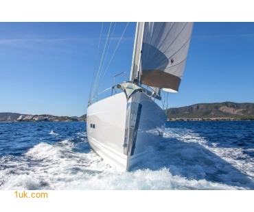 Out at sea on charter