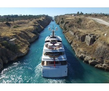 Yacht St David - Corinth Canal 2016 - 3