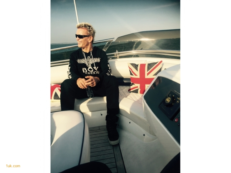 Billy Idol on Charter Yacht