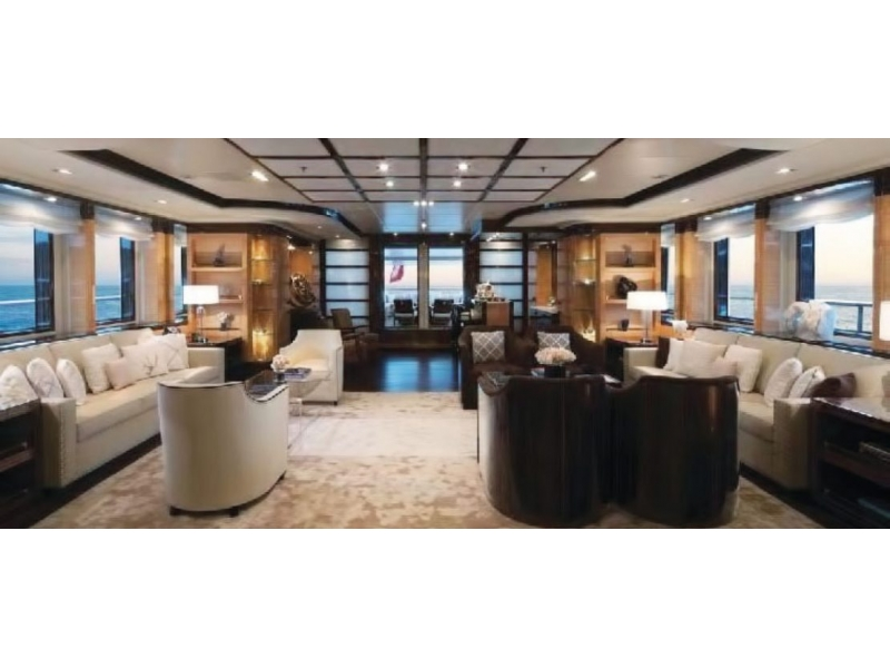 M/Y Swan Superyacht main salon