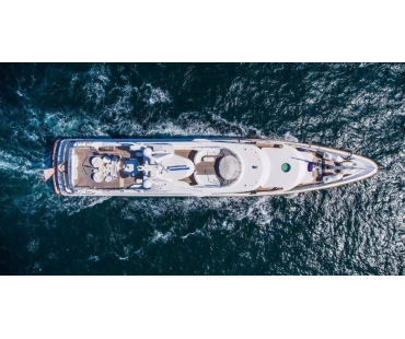 M/Y Swan Superyacht top view