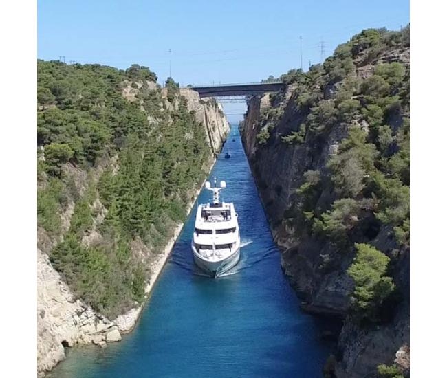 Yacht St David - Corinth Canal 2016 - 2
