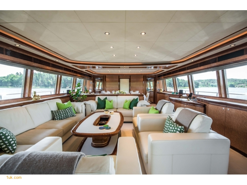 Ample seating area inside the main deck