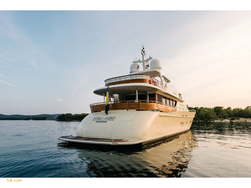 Perla Nero Luxury Yacht for sale with #1uk Southampton Yacht Brokers. View of the Superyacht Interior while on anchor at sea.