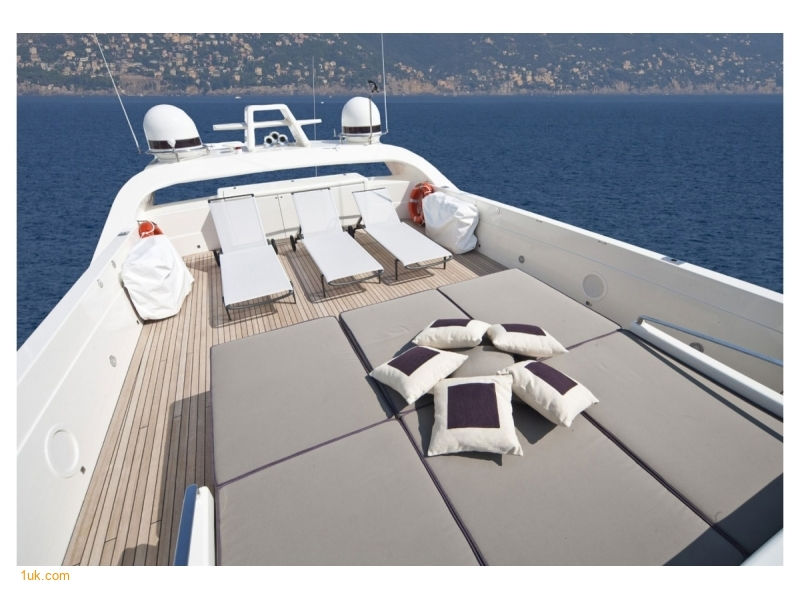 View of Foredeck on luxury yacht