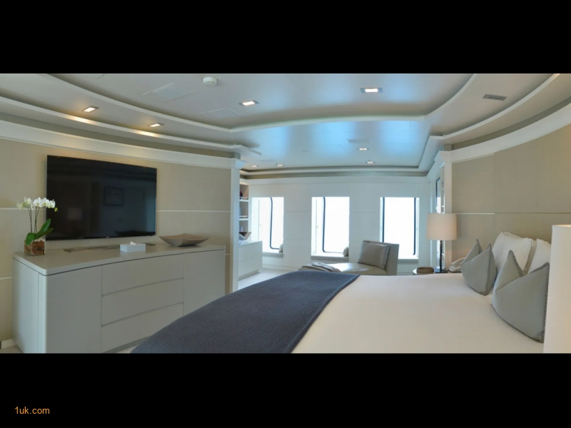 Master bedroom with flat screen television