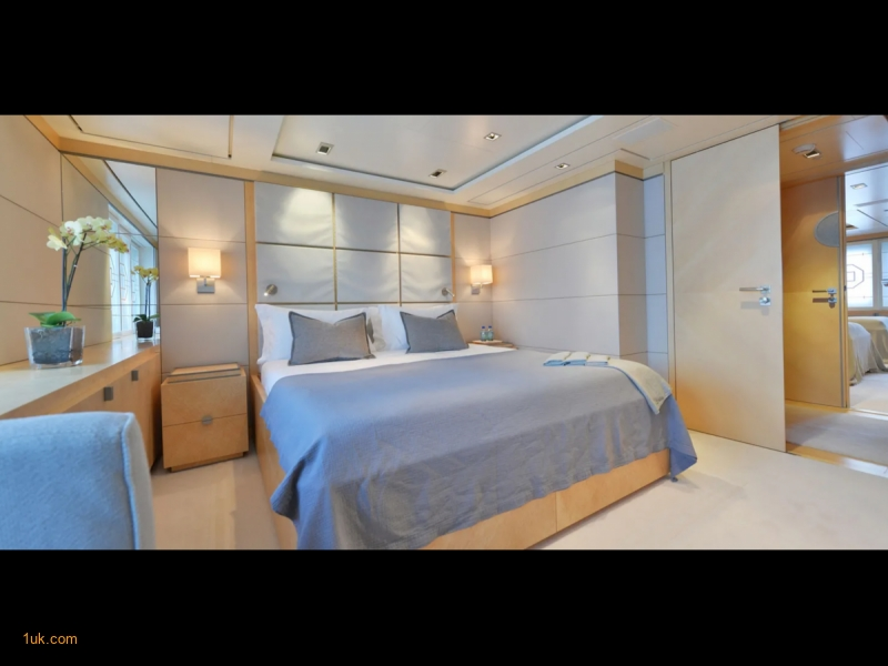 Double bedroom is large open space cabin
