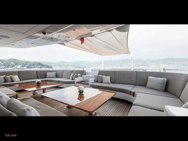 Dining and large sofa space on the sun deck
