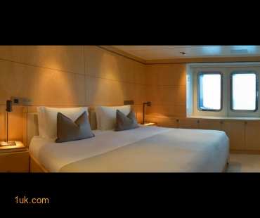 Light wood interior and double bedroom