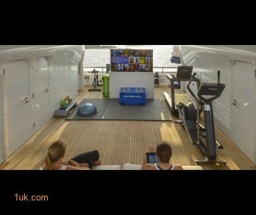 Gym and exercise equipment onboard Tiple Seven
