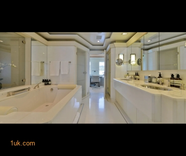 Clean natural style bathroom onboard