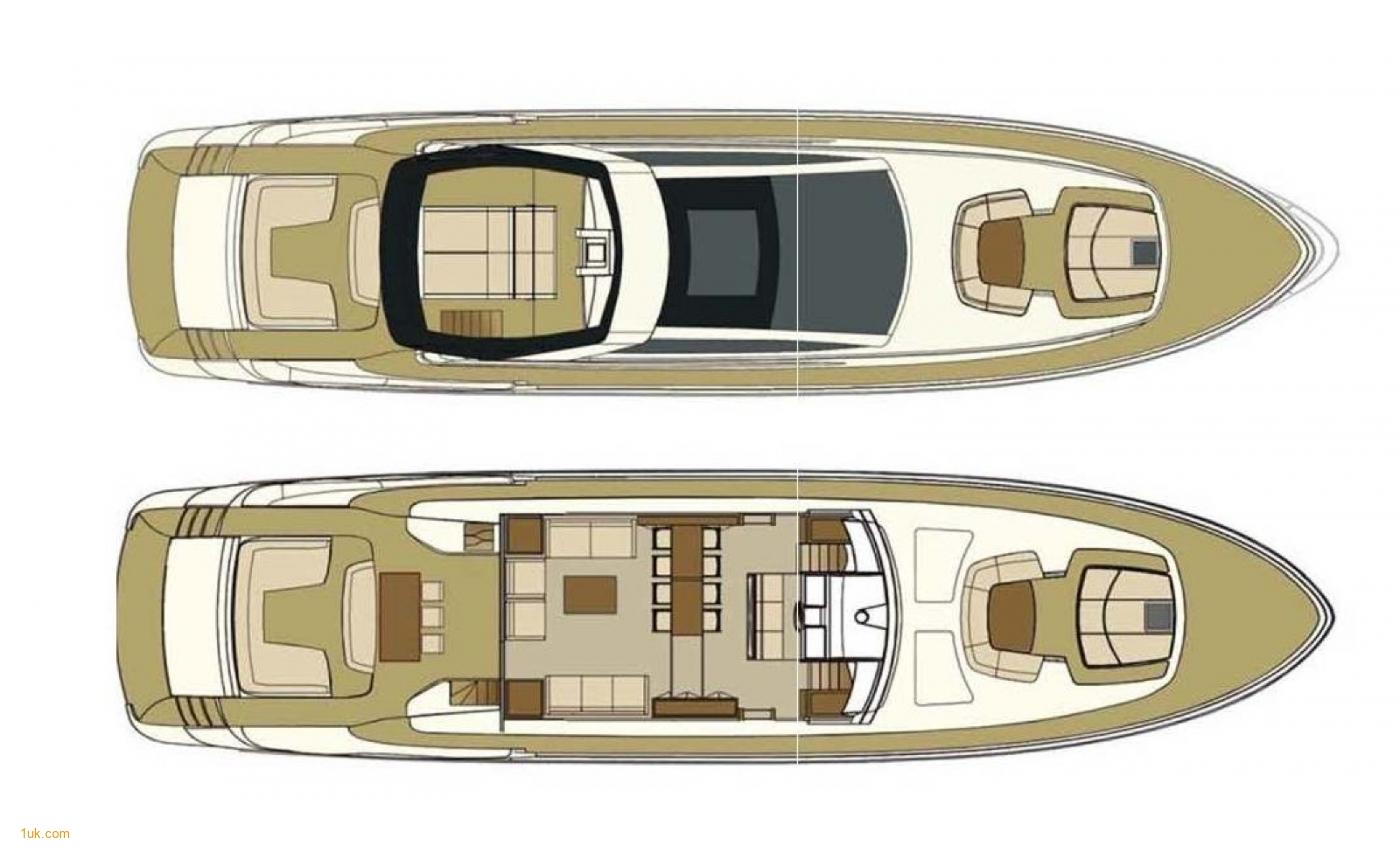 The floor plans of Riva Domino 86
