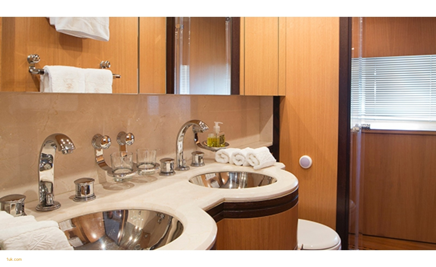 Sink in the bathroom with luxury fixings