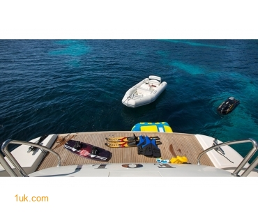Water toys on the The EOL B Sunseeker yacht