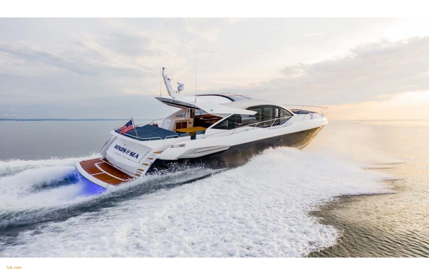 Predator 74 Motor yacht cruising in to the sunset