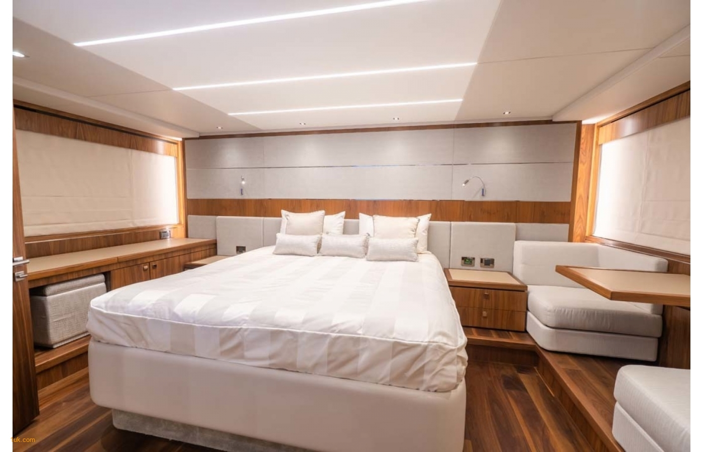 Double bed cabin on the Predator 74 cruiser