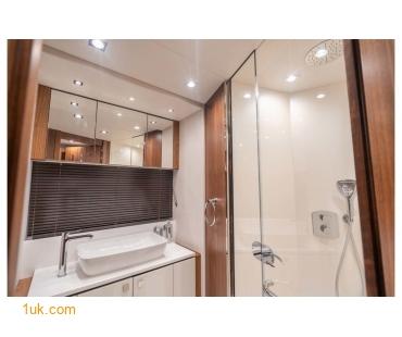 bathroom within the Predator 74 motor yacht