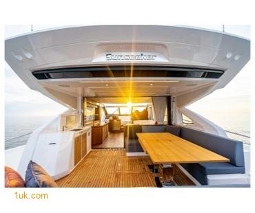 The bottom deck of the Predator 74 Motor yacht