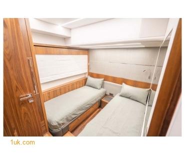 Twin cabin located in Predator 74 Motor boat