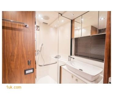 Shower and sink inside Predator 74 Motor yacht