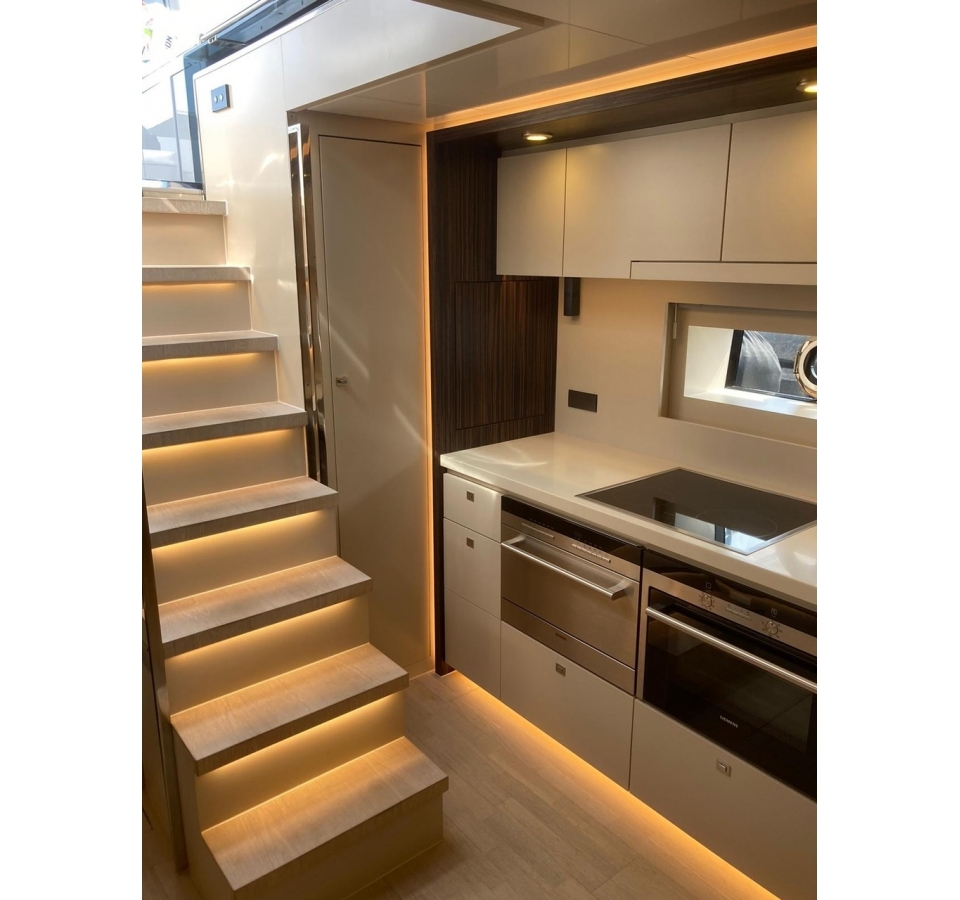 Staircase in to the galley