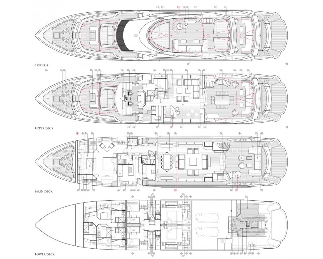 Sunseeker Lady M layout plan
