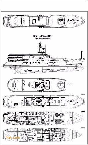 Ark Angel luxury yacht for sale floor plans