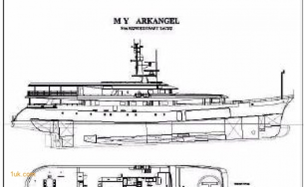 Ark Angel luxury yacht for sale floor plans