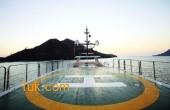 Heli-pad on the Ark Angel yacht