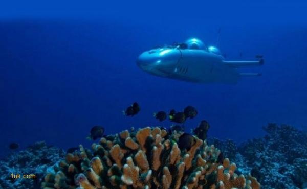 Submarine under the sea water