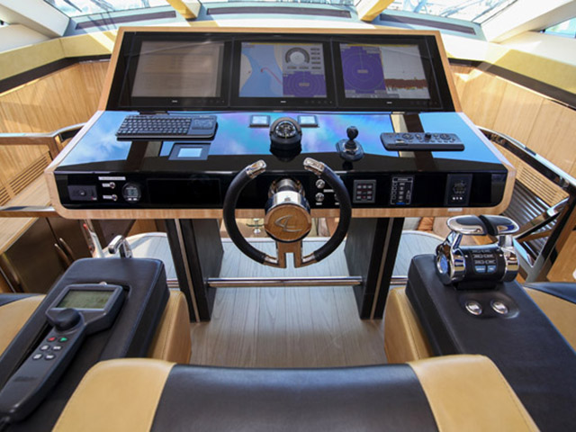 Cockpit in motor yacht