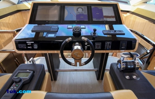 Cockpit in motor yacht