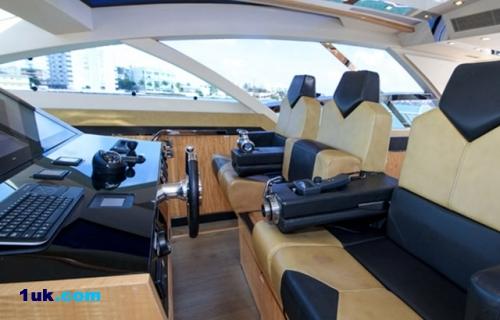 The Bridge onboard yacht