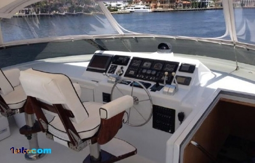 Flybridge on Motor yacht