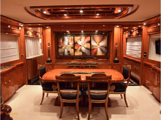 Dining Area on Motor Yacht