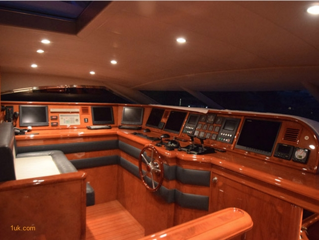 Cock Pit on luxury Motor yacht