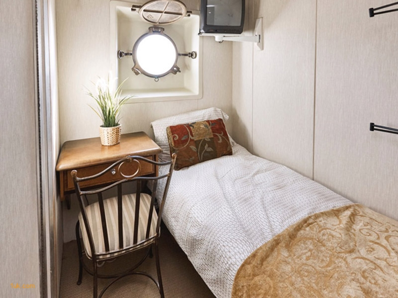 small bedroom on luxury yacht