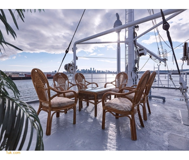 open deck on board this yacht which is for sale