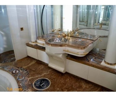 En suite bathroom onboard yacht